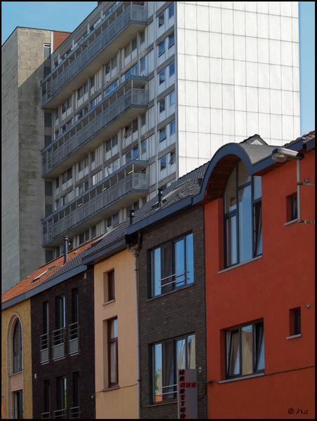 Huizen en blok